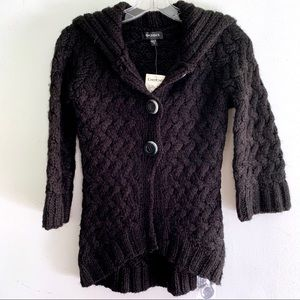 BeBe Black High Low Cardigan with 3/4 Sleeve NWT